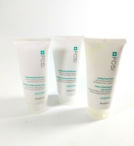 3 New Arbonne FC5 2 oz Tubes - Cooling Foot Creme, Body Cleanser, Body Moisture