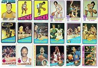 NEW YORK KNICKS LOT OF 240 DIFFERENT CARDS W / 17 VINTAGE, 45 EWING, STARS, RC