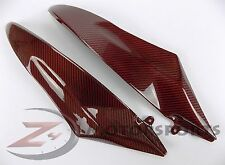 2006 2007 R6 Gas Tank Side Trim Panel Insert Cowl Fairing 100% Carbon Fiber Red