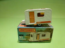 MATCHBOX NEW 31 -  CARAVAN   - RARE SELTEN - NEAR MINT CONDITION -  IN BOX