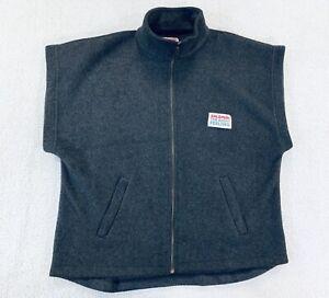 Vtg 90s Salomon Fleece Vest Ski Winter Relaxed Right Feeling Unisex Size Small