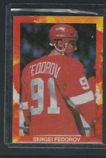 1990-91 Detroit Red Wings Sergei Fedorov Rookie RARE