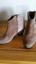 Light brown Clarks plus suede ankle boots cuban heel UK 4