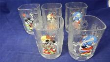FIVE McDonalds Walt Disney World 2000 Celebration Mickey Mouse Sculpted Glasses