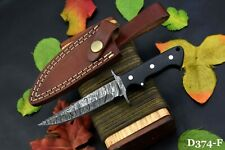Damascus Steel Skinning Hunting Knife Handmade,G-10 Micarta Handle (D374-F)