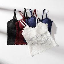 6f8f9140f82e5 Sexy Women Lace Crochet Floral Bralette Bralet Bra Bustier Crop Top Cami  Tank US