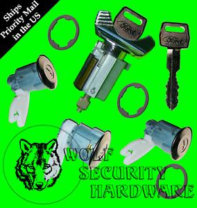 Explorer 95 (Some 96) Ignition Key Switch Lock Cylinder & Door & Rear Set 2 Keys