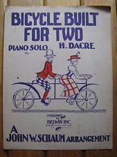 Vintage 1943 BICYCLE BUILT FOR TWO Piano Solo SHEET MUSIC H. Dacre