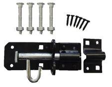 "BLACK BRENTON STRONG DOOR GATE SHED LATCH PAD BOLT LOCK LATCH 4"" 100mm"