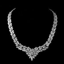 Sparkle cz Wedding Jewelry Statement Choker Necklace