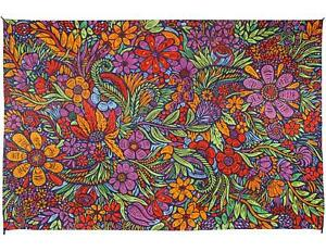 3D Lush Flower Tapestry Cotton Floral Art Tablecloth Rectangular 30 x 45 inches
