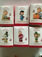 2013 Hallmark Keepsake HAPPINESS IS PEANUTS ALL YEAR LONG Lot of 9