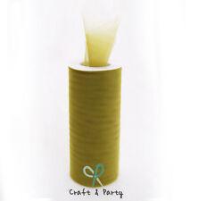 "Tulle Roll Spool Sage Tutu 6"" x 25 yards Wedding Gift Craft"