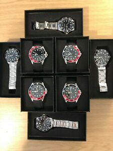 Wholesale Job lot (8) Watches, Classic Sub Style High Quality Watches RRP £239