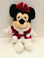 "Vintage Disneyland Walt Disney Minnie Mouse 12"" Christmas Santa Plush Doll"