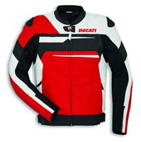 DUCATI Alpinestars SPEED EVO C1 LederJacke Leather Jacket perf. rot weiß NEU