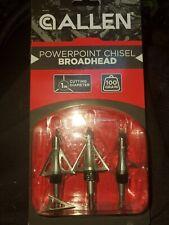 "Allen Powerpoint Broadhead 1"" Cutting Diameter 100 Grain Tip Fixed Blade f Arrow"