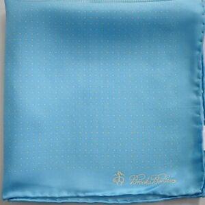New BROOKS BROTHERS Dot Pattern 100% SILK Pocket Square Pochette Handkerchief