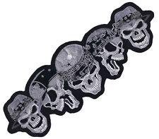 Aufnäher Verbrecher Totenkopf Thug Skulls Patch 31x10 cm Rücken Jacke Gangster