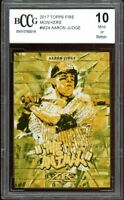 2017 Topps Fire Monikers #M24 Aaron Judge Rookie Card BGS BCCG 10 Mint+
