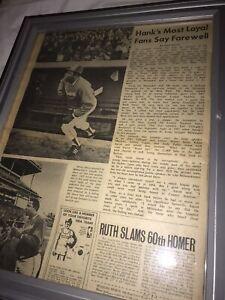 11x14 Vintage Newspaper MLB Hank Aaron Home Run King 1974 Framed Art Milwaukee