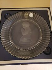 Vintage 1978 Goebel Crystal Glass Plate 1st Edition Praying Girl New in Box