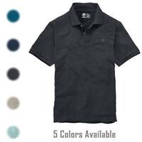 Timberland Men's Short Sleeve Harrington River Slub Cotton Polo Shirt A169Q