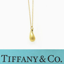 NYJEWEL Tiffany & Co. 18K Yellow Gold Elsa Peretti Teardrop Pendant Necklace