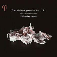 FRANZ SCHUBERT: SYMPHONIES NOS. 1, 3 & 4 NEW CD