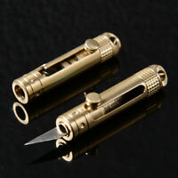 Mini Little Knife Brass Keychain Pocket Knife Portable Outdoor Paper Box Opener