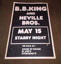 Vintage Concert Poster Portland Oregon Starry Night B.B. King Neville Brothers