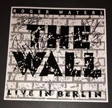 SIGNED ROGER WATERS SNOWY WHITE PAUL CARRACK FAIRWEATHER-LOW 12x12 THE WALL LIVE