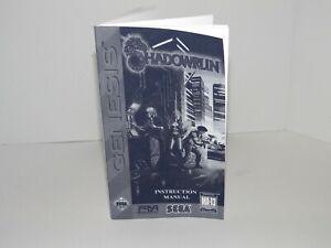 Shadowrun Sega Genesis Replacement Manual