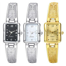 Lady's Rectangle Steel Band Analog Quartz Bracelet Dress Wrist Watch  Novelty