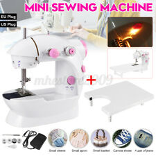 Mini Sewing Machine Portable Electric Sewing Machine with Extended Table Foot