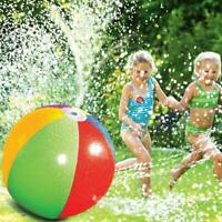 Inflatable Water Spray Beach Ball for Kids Outdoor Sport Lawn Summer Game PVC