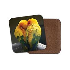 Adorable Love Birds Coaster - Cute Valentine Parrot Budgie Pretty Fun Gift #8680