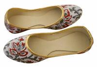 Women Shoes Indian Traditional White Ballerinas Flat Jutties UK 2.5 EU 35