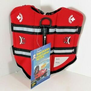 Paws Aboard Dog Life Jacket Red Lifeguard Neoprene Extra Small  7-15 LB S