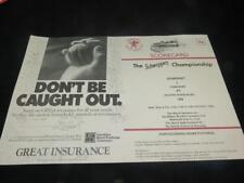 VINTAGE CRICKET SCORECARD County Championship Somerset v Yorkshire 1982