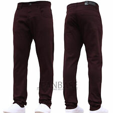 Mens Designer Trousers Chinos Stretch Slim Fit Jeans Pants All Waist & Sizes