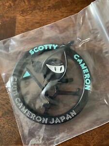 Rare Scotty Cameron Japan M&G Wasabi Tiffany Warrior Bag Tag