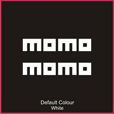 Momo Decals x2, Vinyl, Sticker, Graphics,Car, Brakes, Racing, Stack,N2073