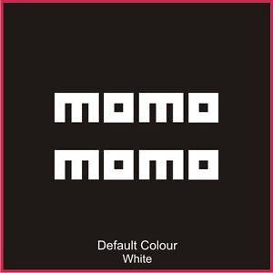 Momo Decals x2, Vinyl, Sticker, Graphics,Car, Brakes, Racing, Stack,N2073