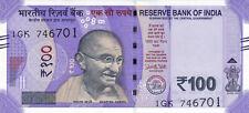 India, 100 Rupees, 2018, P-New, UNC   Gandhi, Redesigned, New Colors