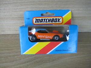 MATCHBOX SUPERFAST   MB1 DODGE CHALLENGER   REVIN-REBAL Orange ABSOLUTELY MINT