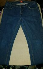 Woman's size 10 regular Dickies denim blue jeans with pockets 33 x 32