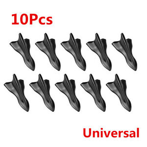 New 10x Black Vortex Generator 3D Shark Fin Jet Rear Roof Wing Spoiler Diffuser