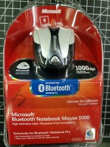Microsoft Bluetooth Notebook Mouse 5000 - White For Windows & Mac  NEW
