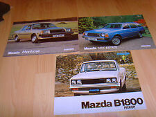 Car brochures 1979 5 Mazda from 1979 1400 Estate, B1800 Pick Up 2 Colour Samples